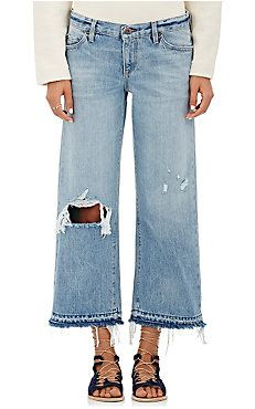Yerma Wide-Leg Crop Jeans CAUSE MURKYS GOT $$ for the new grunge - murk generation
