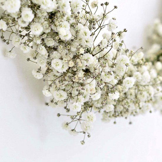 Learn How To Make This Beautiful Floral Garland With Baby S Breath It Makes A Pretty Summer Decoration And Smells Great Flower Garlands Garland Floral Garland