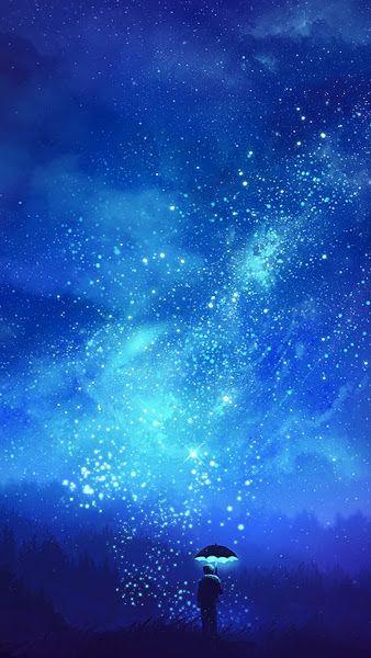 Night Sky Stars Scenery Anime 4k 3840x2160 Wallpaper