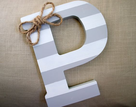 DIY Wooden Letter Art