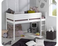 Paraiso Mid Sleeper Bed - white