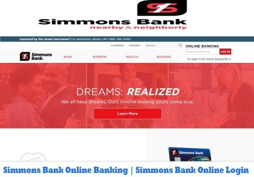 Simmons Bank Online Banking Simmons Bank Online Login Tecteem Online Login Online Banking Login