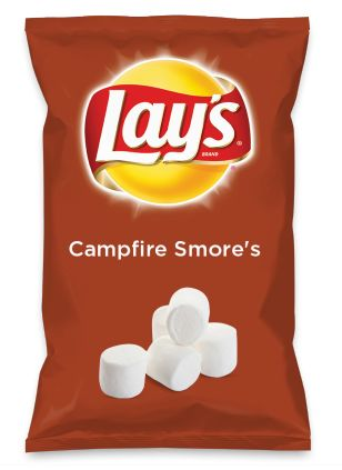It's simple, yet instantly enables us to reminisce on childhood memories with every bite.  ...Wouldn't Campfire Smore's be yummy as a chip? Lay's Do Us A Flavor is back, and the search is on for the yummiest flavor idea. Create a flavor, choose a chip and you could win $1 million! https://www.dousaflavor.com See Rules.