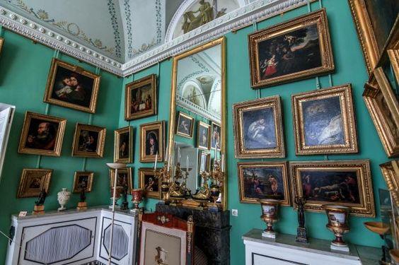 Grand Palais - Intérieur - Pavlovsk - Rez de Chaussée - Cabinet de la Rotonde - Réalisé par Andreï Voronikhin en 1807.
