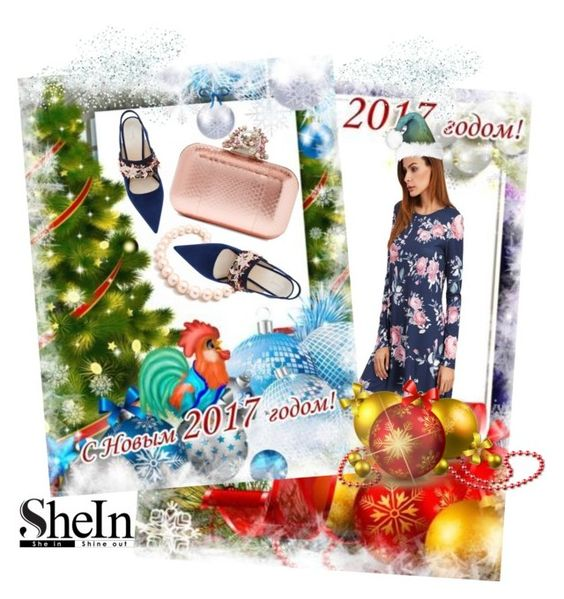 """Shein dress"" by irinavsl ❤ liked on Polyvore featuring Jimmy Choo and Hiho Silver"