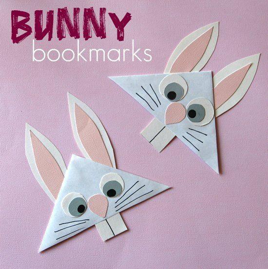 DIY Bunny Bookmark for Taelor's class
