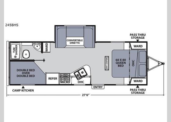 Floorplan 2019 Apex Ultra Lite 245bhs Travel Trailer Travel