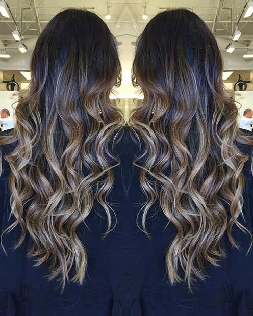 Trendy Balayage Highlights Hair Styles Shortbalayagehighlights Dark Hair With Highlights Balayage Long Hair Beige Blonde Hair