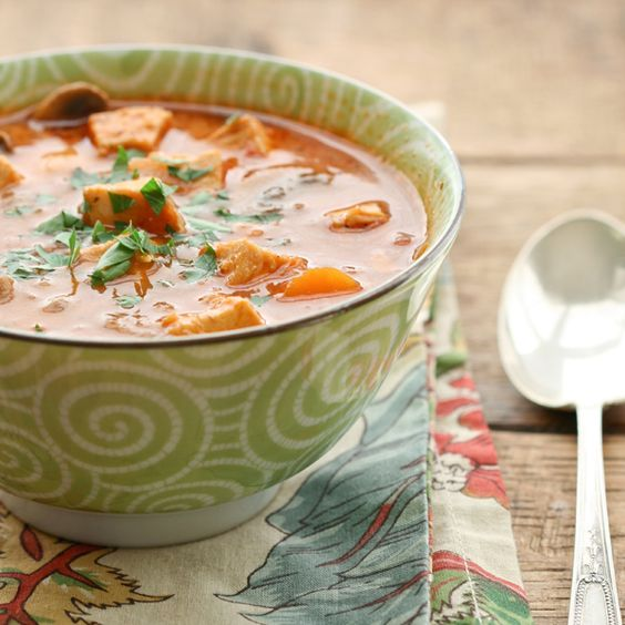Chicken, Vegetable and Tomato Soup   by Deliciously Organic