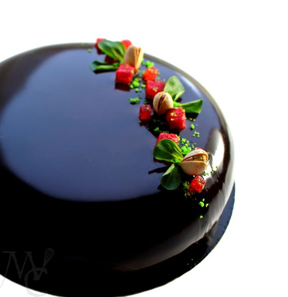 Mirror Glaze Ocean Cake