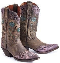 Western #Boots Flowers Hearts Doves Arrows upon Cowgirls Pink ...
