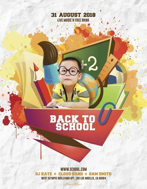 Back To School Event Free Psd Flyer Template Freebie Free Psd Flyer Templates Event Flyer Templates School Event Flyer