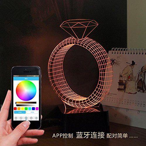 Magia è creativo le ultime 3D LED lampada intelligente controllo regali romantici Bluetooth speaker phone APP , 1 euro 73,00