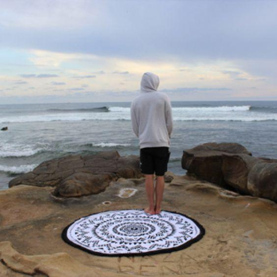 Ohana Round Beach Towel - SurfGirl Beach Boutique - A Treasure Chest for Surf Girls