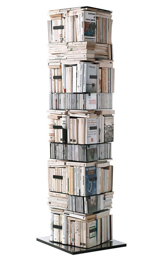 Bibliothèque Ptolomeo 4 faces - Rangement horizontal/vertical - Opinion Ciatti - Bibliothèques et étagères - Mobilier