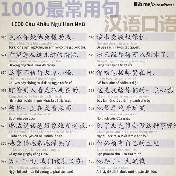 1000 Chinese Sentences In Daily Life Part 38