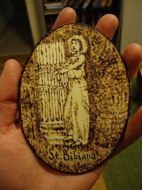 St. Bibiana Woodburning