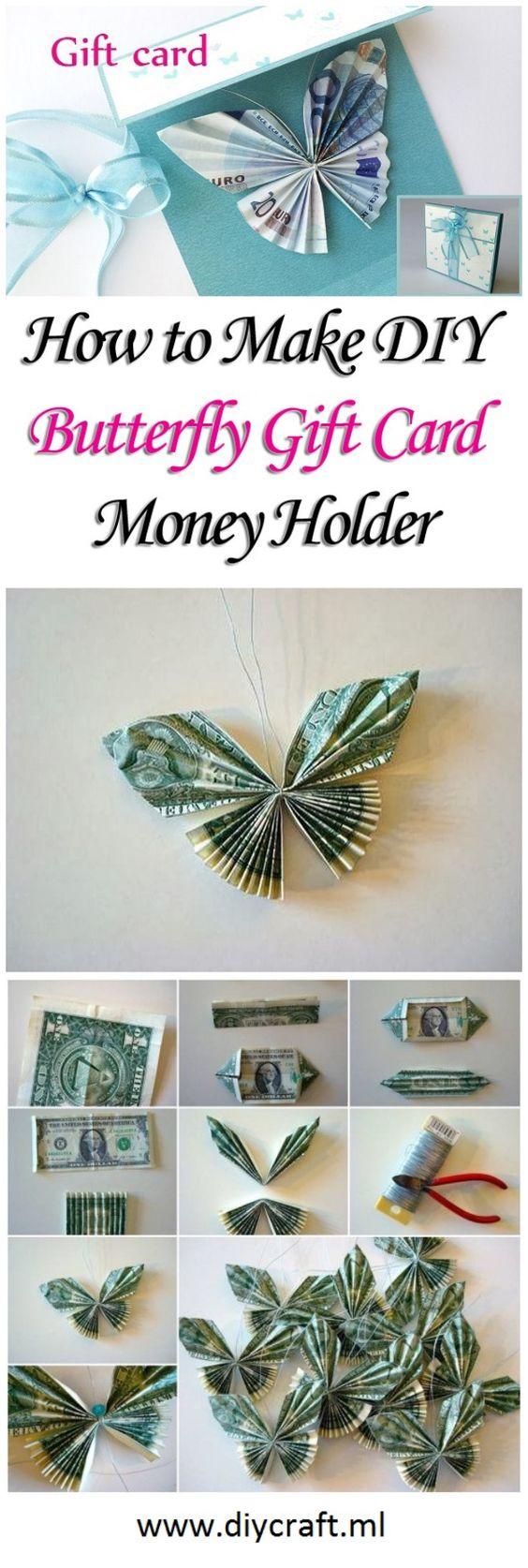 Make DIY Butterfly Gift Card Money Holder                                                                                                                                                     More