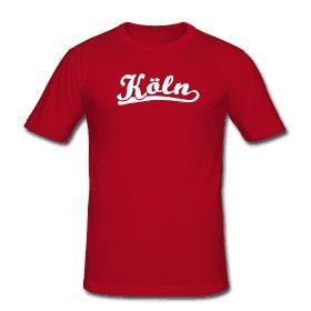 Köln T-Shirt Retro Schrift