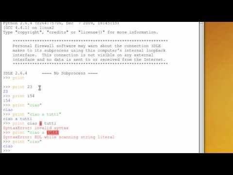 Tutorial 2 - Imparare Python - #Imparare #Italiano #Karmic #Koala #Lezione #Lezioni #Linguaggi #Linguaggio #Programma #Programmare #Programmazione #Python #Software #Tutorial #Ubuntu #Video http://wp.me/p7r4xK-Ku