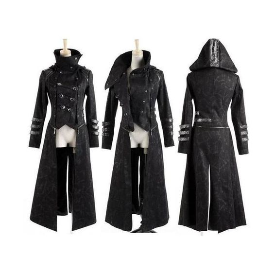 Jacke Mantel Kapuze Visual Kei Punk Rave Rock Gothic Jacket lang kurz neu Top in Kleidung Accessoires , Damenmode , Jacken Mäntel |eBay