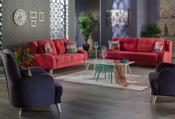 Rote Couch Im Wohnzimmer Welche Wandfarbe Und Co Passen Dazu