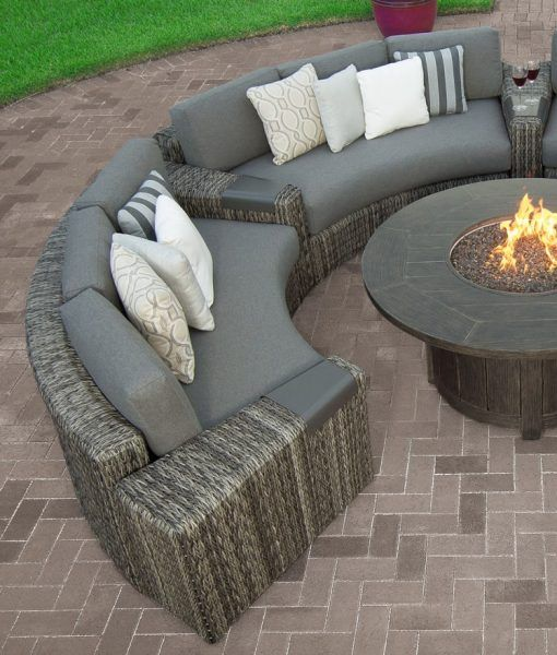 Orsay Curved Sofa Curved Sofa Patio Couch Outdoor Sectional Sofa