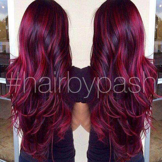 cheveux coloration coiffure coupe couleur parures merveille gorgeous tresses couleurs essayer - Coloration Cheveux Magenta
