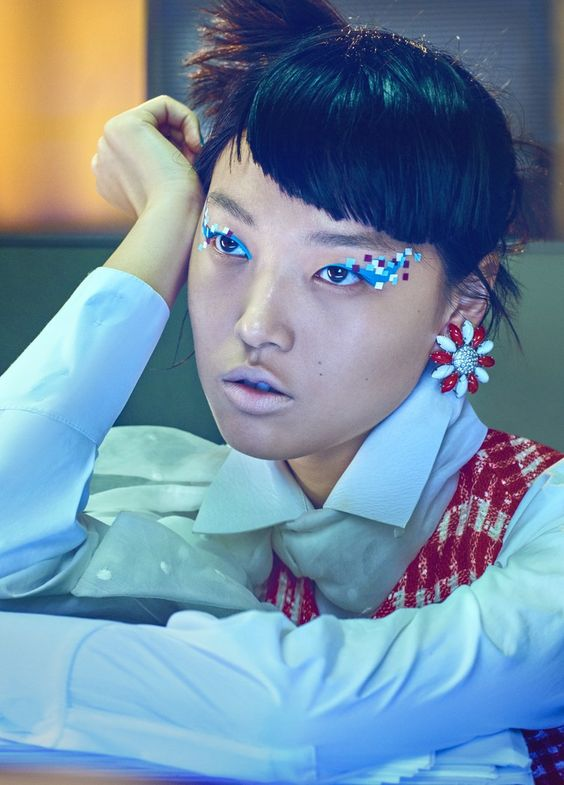 Beauty de oficina en Vogue China, 2015
