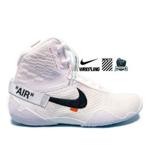 Off white Nike wrestling shoes. in 2020