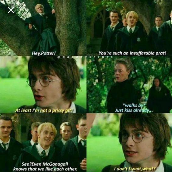 Harry Potter caught off gaurd