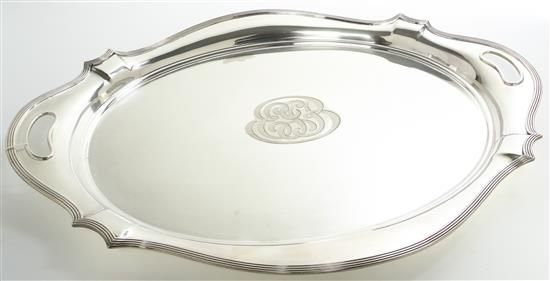 An American Silver-Plate Handled Tray, Gorham Mfg. Co.
