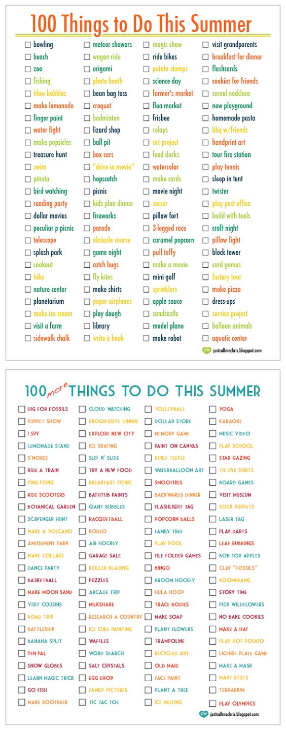 100 Things To Do This Summer 100 More Things To Do This