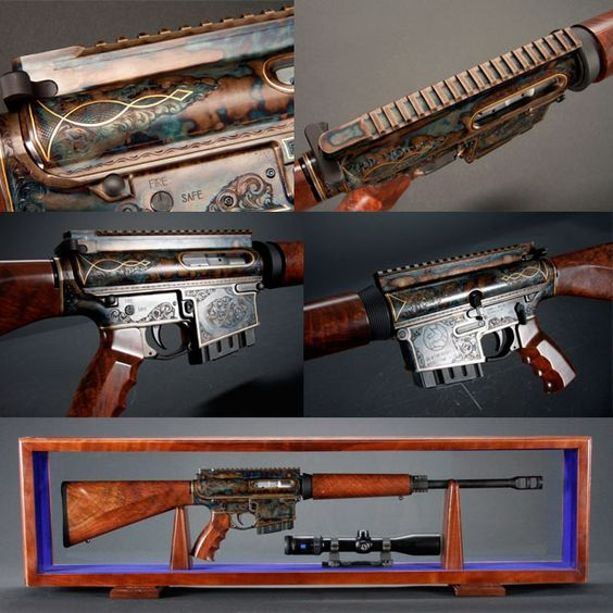 Turnbull TAR-10 . 308.... Looks like somebody pack-a-punched this rifle; just needs a drum magazine and a red dot with a dollar sign reticle and you'd be ready for a zombie apocalypse.