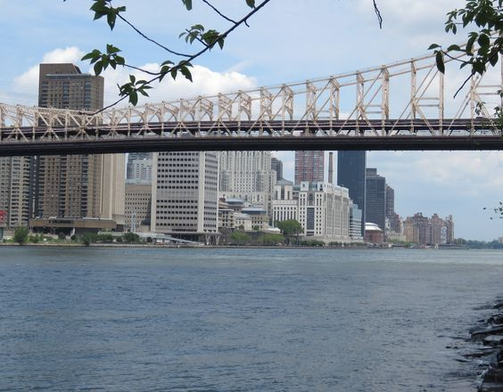 THE QUEENSBOROUGH BRIDGE AKA THE ED KOCH BRIDGE LEADING FROM NYC TO QUEENS