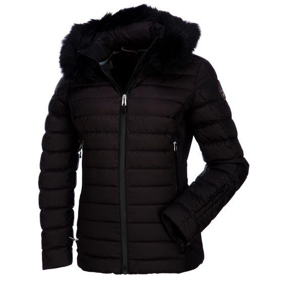 Napapijri Callalin A down ski jacket Women Black-White Sportive