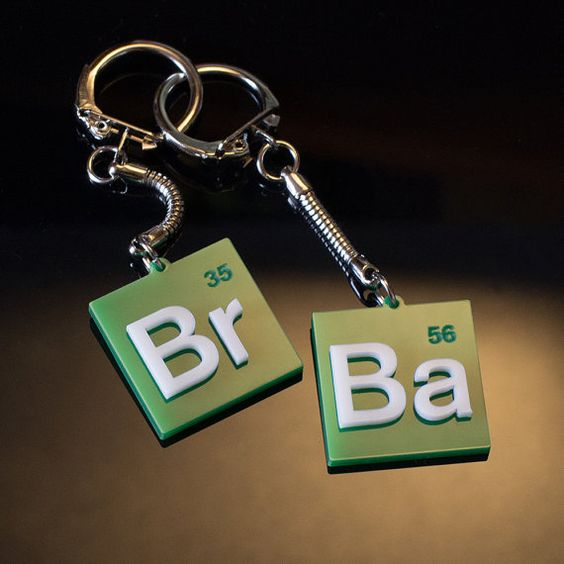 Breaking Bad Keychains  Wear these two lovely keychains with your keys or give one to your friend!  Excellent gift for the Breaking Bad Series Fan.