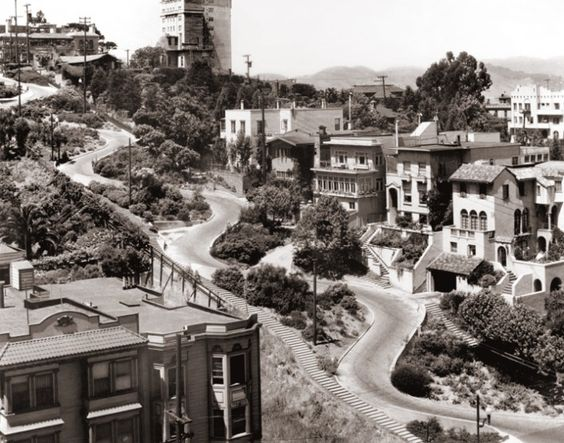 Lombard Street in San Francisco 1933: