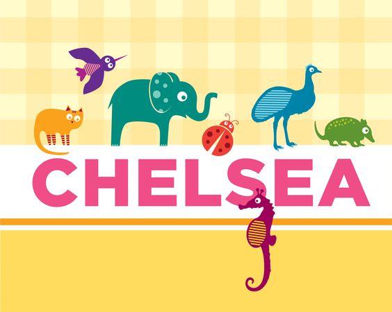 Custom Animal Name Art  https://www.etsy.com/listing/102902655/custom-girl-animal-name-art-print