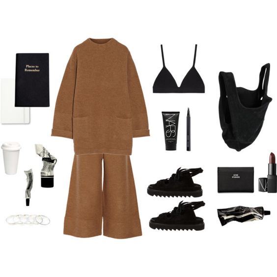Slouch by samanthadiorio on Polyvore featuring Acne Studios, Proenza Schouler, Maison Margiela, NARS Cosmetics, Bobbi Brown Cosmetics, Aesop, Moleskine and Leathersmith