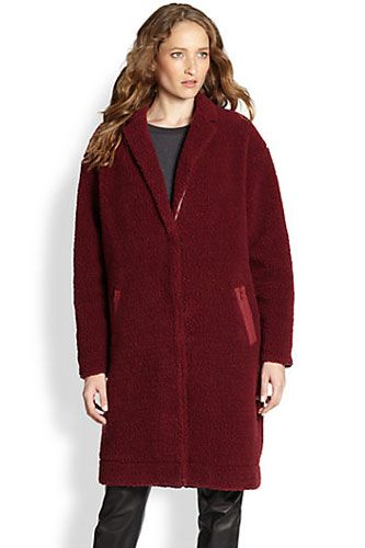 Elizabeth and James Narine Fuzzy Coat, $425, available at Saks Fifth Avenue.