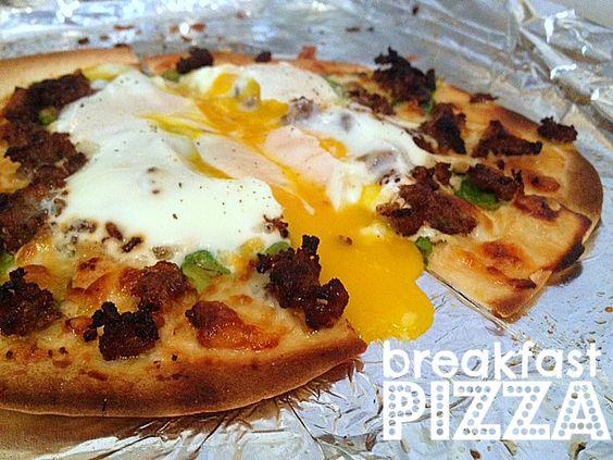 The Daily Deelight - breakfast pizza