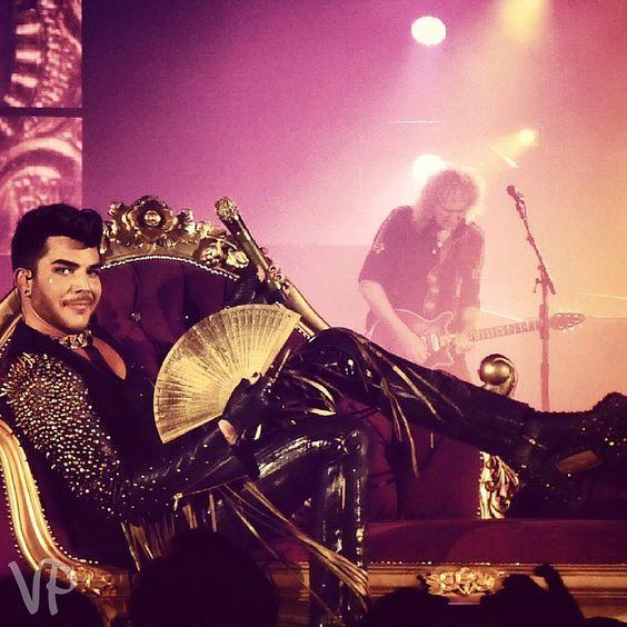 """ #AdamLambert #Queen #BrianMay #Paris"""