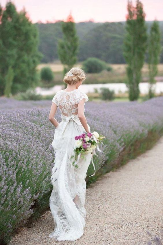 Lace Wedding Dresses With Classic Elegance - Dress: Anna Campbell; Photographer: Agent 86 Photography