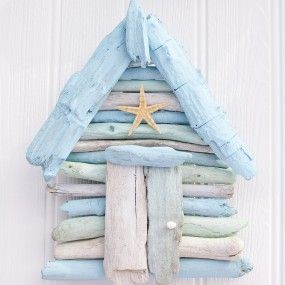 Driftwood Beach Hut - I love the pale blue colour of this little hut, definitely something I would love in my home ☺ @traffordcentre