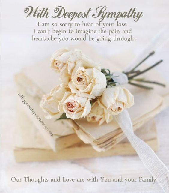 Sympathy Card With Deepest Sympathy | Card inside | Pinterest ...