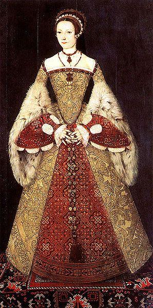 La reina Catherine Parr, sexta esposa del rey Enrique VIII de Inglaterra.