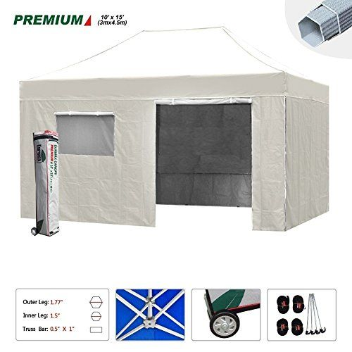 Best Camping Tents New Eurmax 10x15 Ft Premium Ez Pop Up Instant Canopy Outdoor Canopy Party Tent Gazebo Com Best Tents For Camping Camping Cot Tent Camping