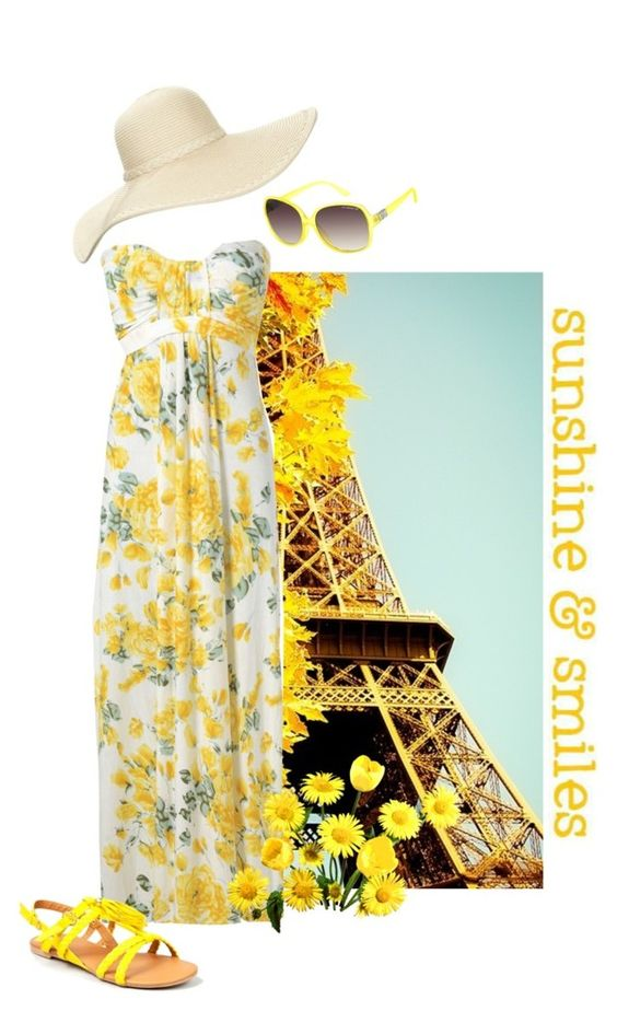 """""""Sending Sunshine and Smiles!"""" by unstealthyninja ❤ liked on Polyvore featuring AX Paris, Reger by Janet Reger, Qupid and Liz Claiborne"""