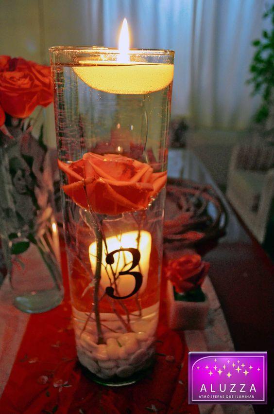 Mesas on pinterest - Centros de mesa con velas ...